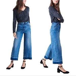 Madewell Wide Leg Crop: Drop Hem edition size 31